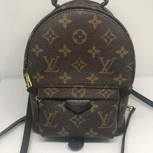 LOUIS VUITTON Monogram Palm Springs Backpack Mini